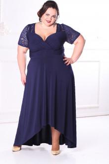 Платье 088802 ЛаТэ (Темно-синий)